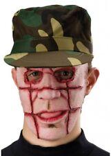 Halloween Serial Killer Mask GRILL FACE Fancy Dress Zombie Man Branded Burnt