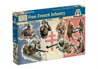 Italeri   1:72 - 6189, French Infantry WWII, Modellbausatz unbemalt,Plastikmodel