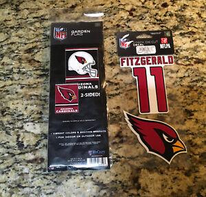 "Arizona Cardinals 2 Sided 12.5"" x 18"" Garden Flag [NEW] NFL W/ Car Decal"