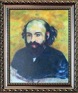 PAUL CEZANNE Great Original Mixed Media on Paper, Art Painting Signed / Framed.