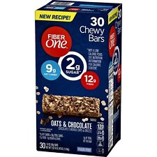 Fiber One Oats & Chocolate Chevy Low Carb Low Sugar Chewy Bars 30 Ct GREAT DEAL!