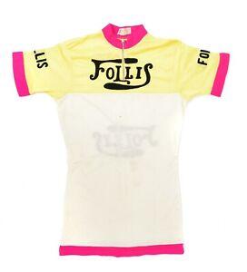 Follis Cycles 1/4 Zip Short Sleeve Jersey Men MEDIUM Vintage L'Eroica France