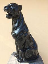 Schwarzer Panter,  Leopard 80cm groß Designer Deko Figur, Modern