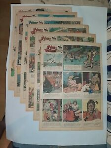 full year large panel 1947 sunday newspaper pages PRINCE VALIANT Harold Foster