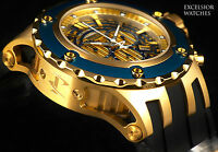 New Invicta $1,995 Reserve Men's Subaqua Swiss Made Chrono 18KT & Blue IP Diver