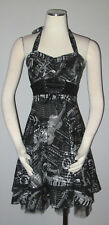 Hot Topic Dress Juniors S Gothic Corset Music Tulle Prom Black Velvet Halter