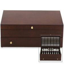 Reed And Barton Silverware Flatware Chest Mahogany Finish High Quality New