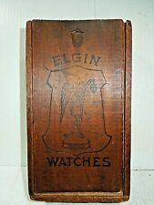 Elgin Pocket Watch Box Antique Original Wood Dovetailed