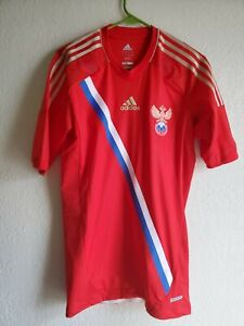 Russia Adidas EURO 2012 Techfit Player Issue home jersey shirt large