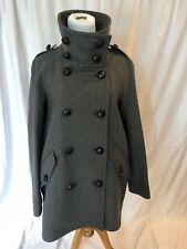 Burberry Brit Funnel Neck Wool Coat NWT US 10 UK 12 EU 44 Mid Grey Melange $950