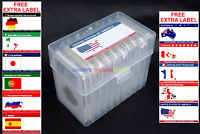 New Plastic Storage Box & 10pcs Coin Slab Holder (32.5mm) with Free Extra Label