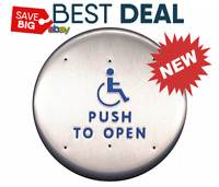 New- BEST CL2216 HANDICAP LOGO PUSH TO OPEN TEXT Push Plate,For Auto Operator,6""