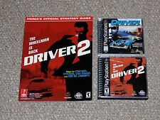 Driver 1 & 2 Playstation Complete with Prima Strategy Guide Set