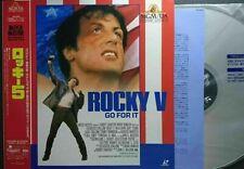 Rocky V (Go For It) - Authentic Japanese Laser Disc + OBI Strip - RARE