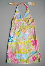Lilly Pulitzer LILLYWOOD Girls 14 Yrs Halter Dress EUC California Pink Blue