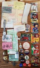 Lighters, Political Buttons, Fishing, Ephemera, License Junk Drawer Lot