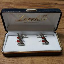 Gemelli camicia barca a vela rossa gemelli uomo gemelli camicie gemelli da polso