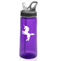 22 oz Sports Water Bottle With Straw Unicorn