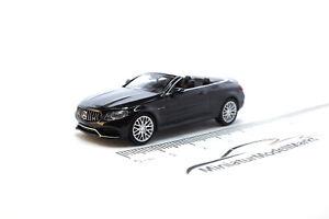 #870037030 - Minichamps Mercedes-AMG C63 C-Klasse Cabrio - Schwarz - 2016 - 1:87