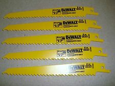 "5  DeWalt DW4802 6"" 6 TPI Bi-Metal Plunge Point Reciprocating Sawzall Blades 5"