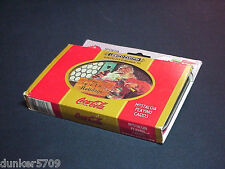 SET OF TWO PACKS COCA COLA PLAYING CARDS IN METAL TIN -FACTORY SEALED CARDS 1998