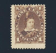 NEWFOUNDLAND 1896, 1c BROWN, VF MINT OG Sc#43 (SEE BELOW)