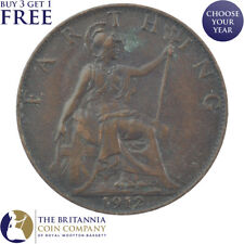 1912 KING GEORGE V FARTHING 1/4d - YEAR OF THE TITANIC