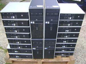 JOB LOT PALLET of TWENTY x HP Core 2 Quad, Core 2 Duo, AMD Phenom Computers PCs