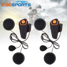 2pcs Bluetooth 1000M BT-S2 Motorcycle Motorbike Communication Intercom Headset