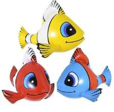** 1 X INFLATABLE TROPICAL FISH BLUE 60CM PARTY FANCY DRESS PROP POOL NEW **