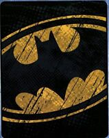 "Batman Raw Shield Silky Bat Man Justice League DC Blanket Throw 40"" x 50"" NEW"