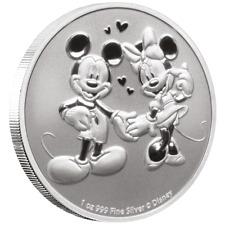 Niue - 2 Dollar 2020 - Disney™ - Mickey & Minnie Mouse™ - 1 Oz Silber ST