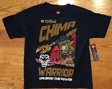 ! Lego Chima Boys Size 6/7 T-Shirt Navy Blue