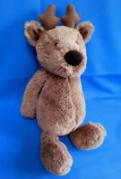 "13"" bashful BROWN REINDEER MEDIUM TEDDY BEAR comforter soft plush toy JELLYCAT"