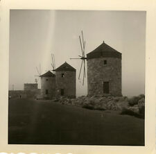 PHOTO ANCIENNE - VINTAGE SNAPSHOT - MOULIN À VENT AILES ENFILADE -WINDMILL WINGS