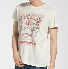 Wrangler Jeans S Mens SS Kio Egret Off White T-Shirt Bnwt Brand New Heritage Top