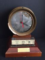 Antique Maine Central Railroad Locomotive Steam Gauge c. 1891 w/ Quartz Clock