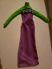 1959 BMR BARBIE DOLL CLOTHES  PURPLE & GREEN FLOOR LENGTH DRESS