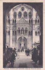 FERRARA - Frontale della Cattedrale visto dal Volto del Cavallo 1927