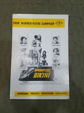 Operation Bikini original press book - Tab Hunter, Frankie Avalon