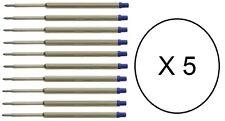 50 - Ballpoint Pen Refills for WATERMAN - BLUE MEDIUM