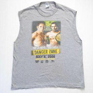 Oscar De La Hoya vs Ricardo Mayorga Promo Shirt Men Sz 2XL Sleeveless Tshirt XXL