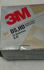 "3M DS HD 3.5"" Computer Diskettes Floppy Disks Vintage"
