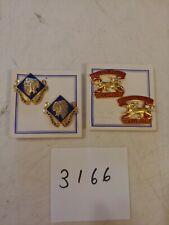4 Vintage Enamel Military Pins / Badges Army Air Defense Artillery - Infantry Br