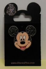 Disney Pin DLR Mickey Mouse Face Jeweled Pin