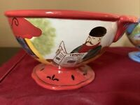 One Jennifer Brinley Parisian Sidewalk Cafe Bistro Bowl Choose Your Color