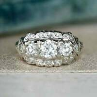 Vintage Art Deco Retro Fine Engagement Ring 4Ct Diamond Ring 925 Sterling Silver