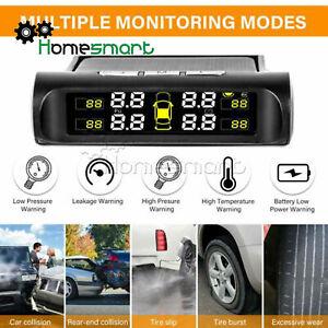 Auto solar wireless tire pressure monitoring system external sensor AHS