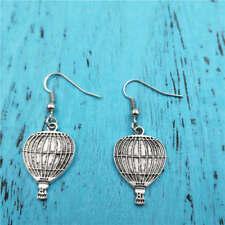 hot air balloon earrings,women Fashion pendants jewelry handmade Silver ear stud