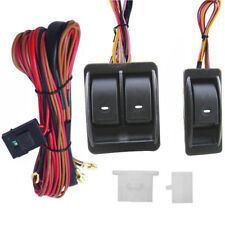 12V Universal Power Window Switch Kits With Wiring Harness + Switch Holder STOCK